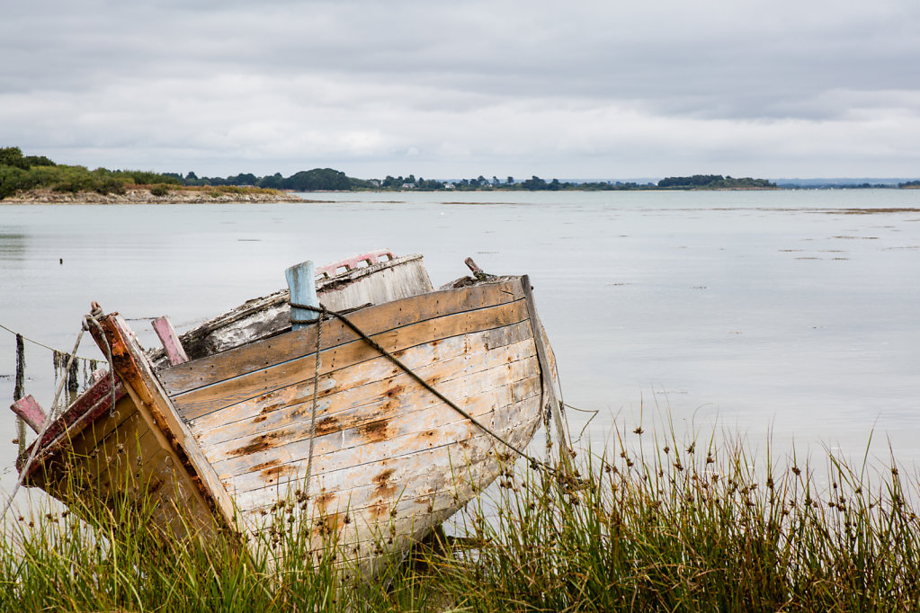 Abandonned boat (Île-aux-Moines - Morbihan)