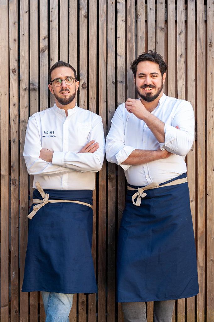 Chef and Somelier / Ugo Federico & Francesco Cury / Racines Restaurant / Belgium
